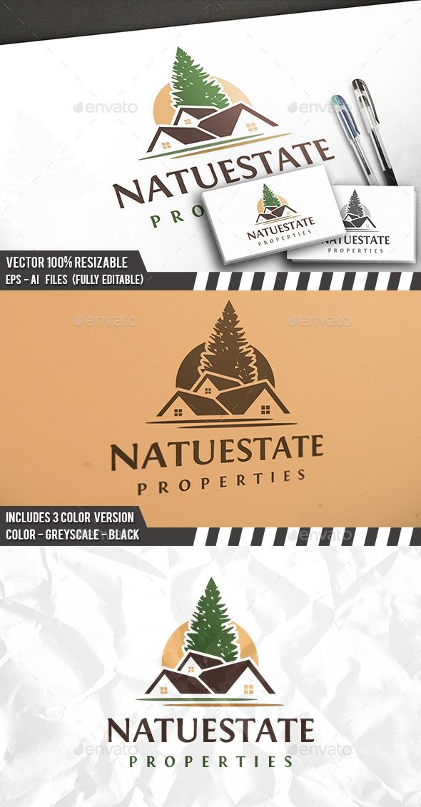 Nature Real Estate Logo - Buildings Logo Templates