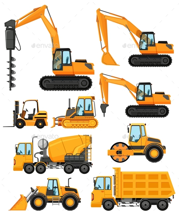 Construction Vehicles Types Cat