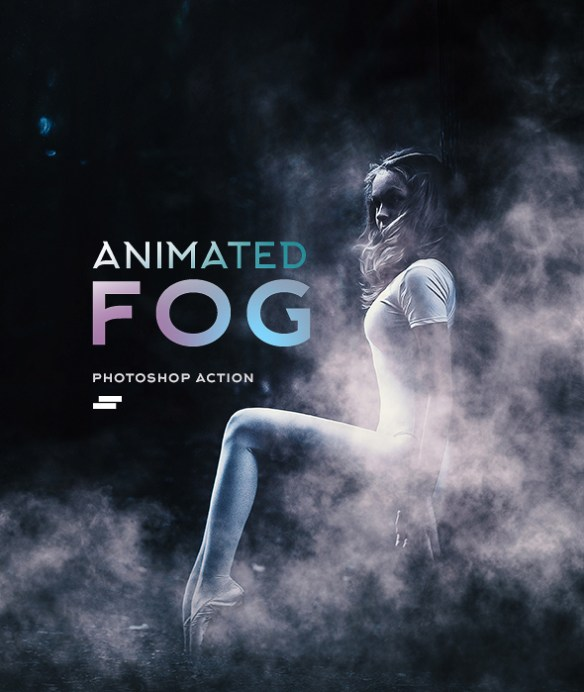 Gif Animated Fog Photoshop Action - Photo Effects Actions