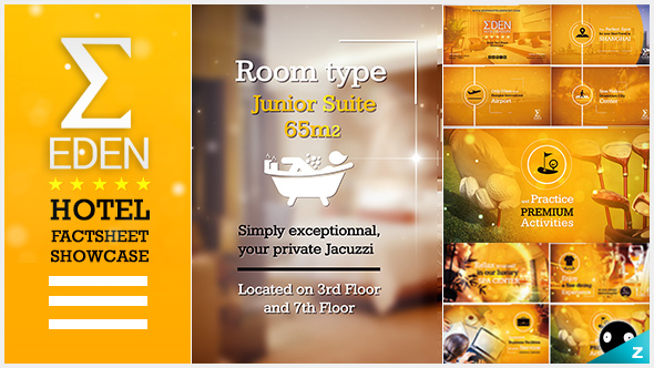 Hotel Fact sheet Showcase by zanimotion   VideoHive Play preview video
