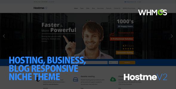Hostme v2 Responsive WordPress Theme