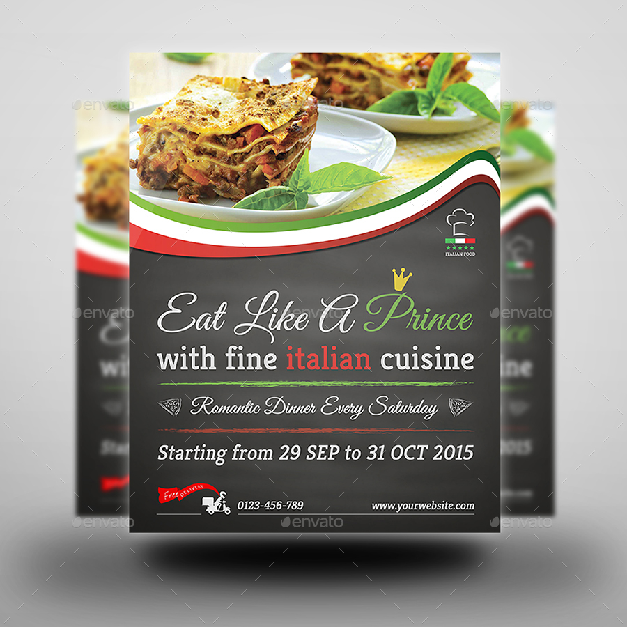 Italian Restaurant Advertising Bundle By OWPictures GraphicRiver