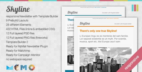 skyline responsive newsletter with template builder xyz blogger
