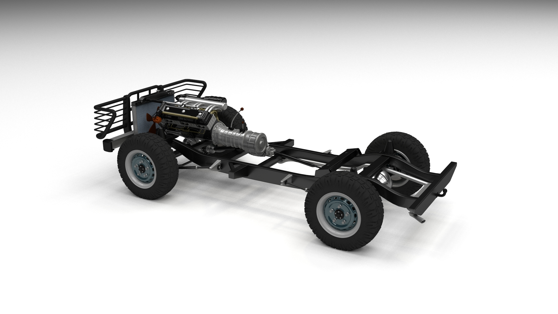 Full Land Rover Defender Pack w chassis and interior by dragosburian