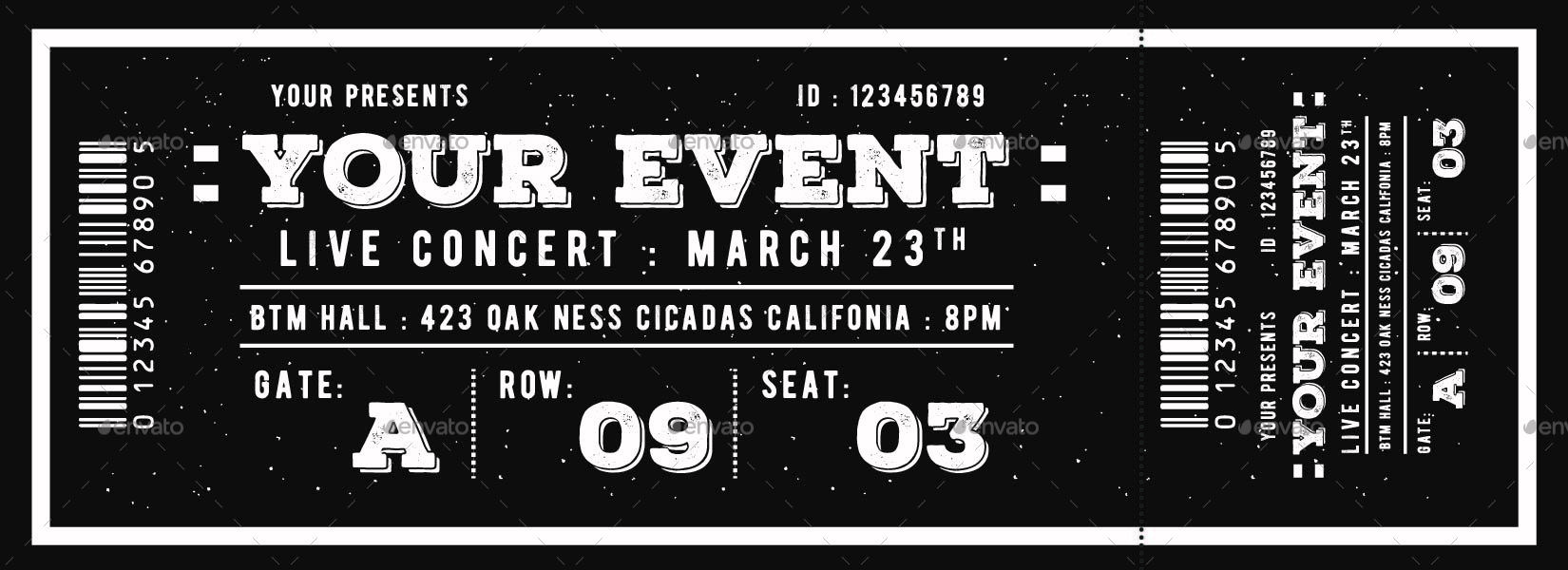 Vintage Event Ticket By Lilynthesweetpea GraphicRiver