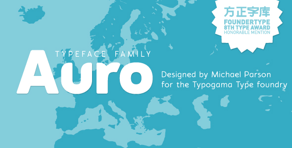 Free Font Auro typeface Download