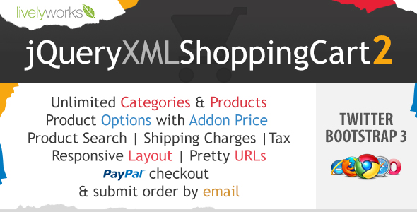 JQuery XML Shopping Cart - PayPal Store - Shop