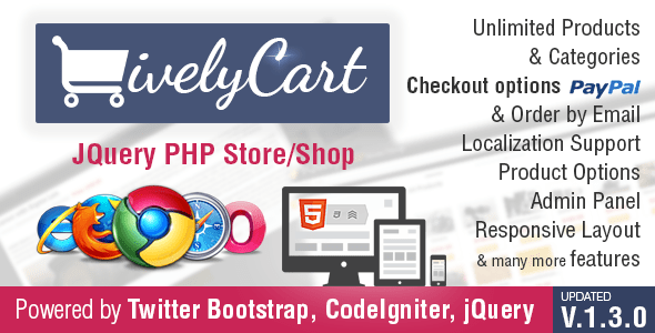 JQuery PHP PayPal Store - Shop