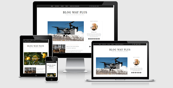 Blog Way Plus - Minimal WordPress Blog Theme