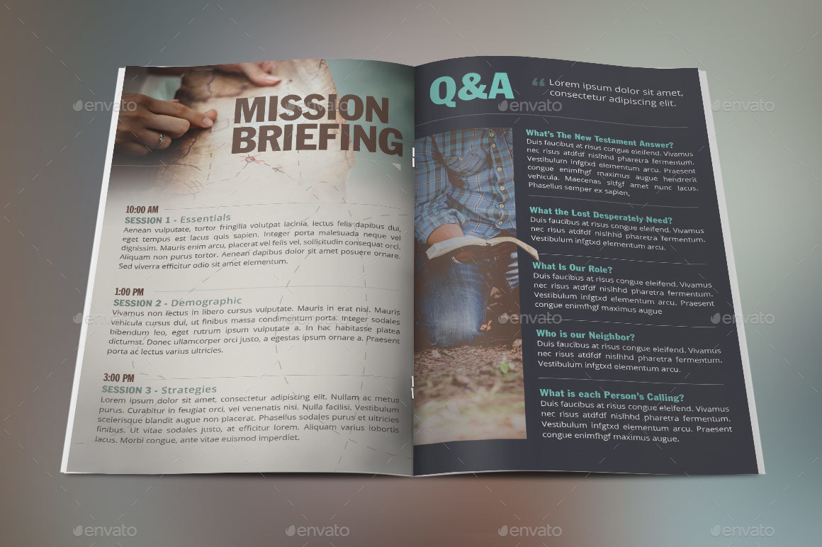 Missions Conference Brochure Template By Godserv GraphicRiver