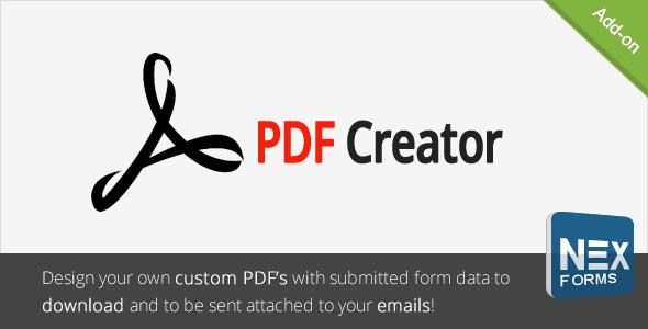 PDF Creator for NEX-Forms - CodeCanyon Item à venda