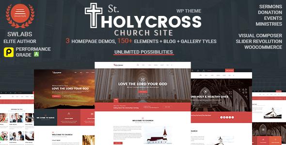 Church WordPress Theme   HolyCross Church