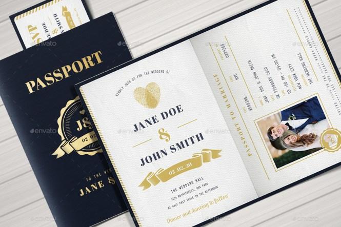 Passport Wedding Invitation By