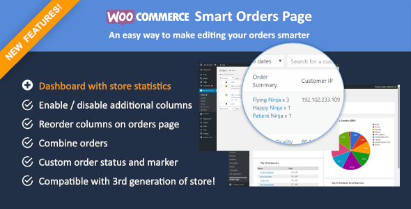WooCommerce Smart Orders Page for Woocommerce 3.0