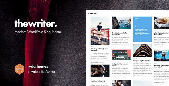 preview.  large preview - The Writer - Modern WordPress Blog Theme