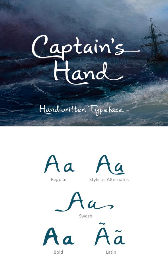 Free Font Captain's Hand Font Download