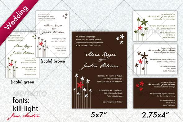 Brown White Modern Wedding Invitation Weddings Cards Invites