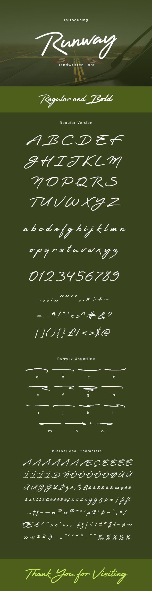 Free Font Runway Handwritten Font Download