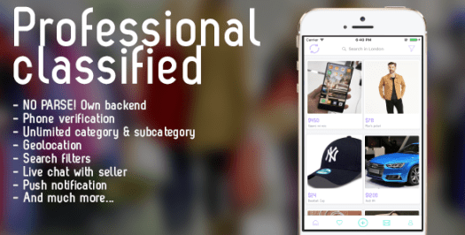 Professional classified with chat Android - 1