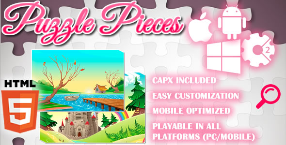 Puzzle Pieces - HTML5 Game (Capx) - CodeCanyon Item for Sale