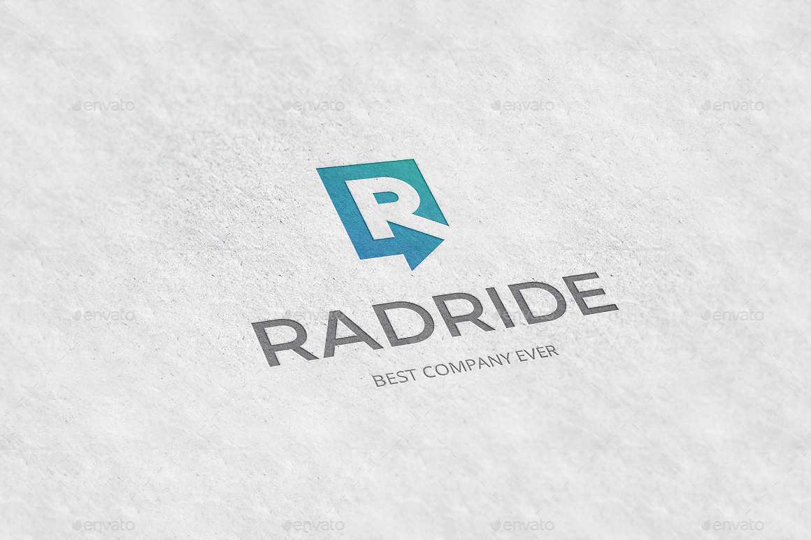 Radride Letter R Arrow Logo Template By Tovarkov GraphicRiver