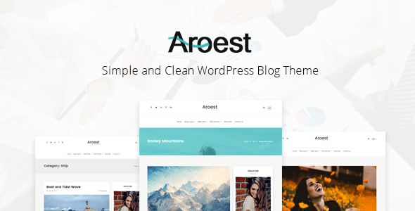 preview 01.  large preview - Aroest - Simple and Clean WordPress Blog Theme