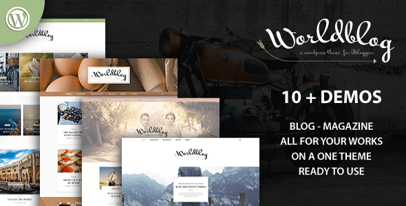 00 preview.  large preview - Worldblog - WordPress Blog and Magazine Theme