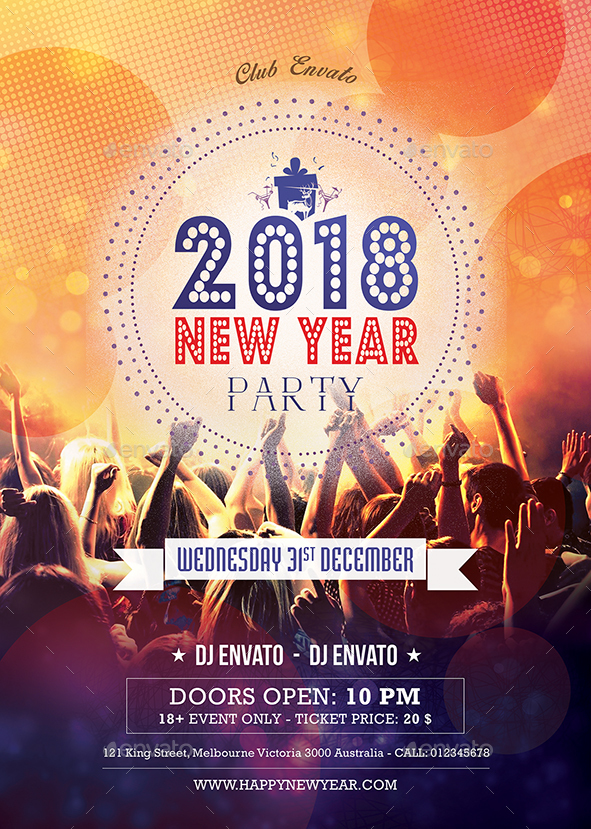 2018 New Year Party Flyer Poster vol 2 by graphiceremre   GraphicRiver screenshot 01 jpg