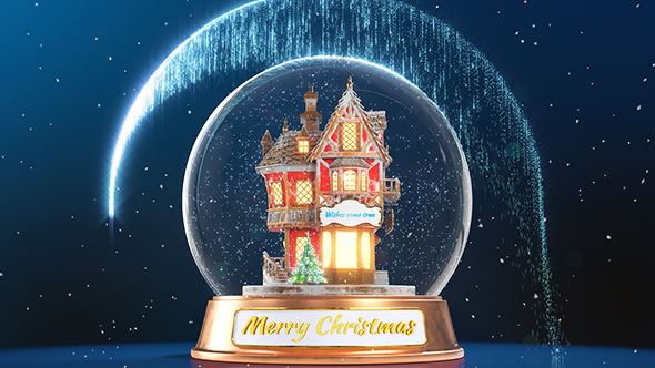 Christmas Snow Globe Wishes Full HD After Effects Video Template