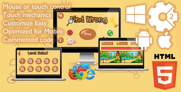 Find Wrong Game - CodeCanyon Item for Sale