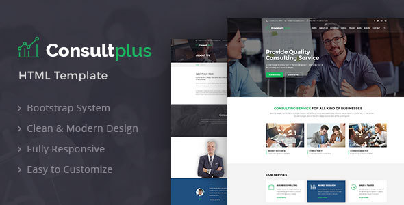 HTML5 Business Consulting Template