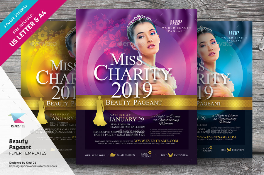 Beauty Pageant Flyer Templates by kinzishots   GraphicRiver screenshots 01 graphic river beauty pageant flyer templates kinzishots jpg