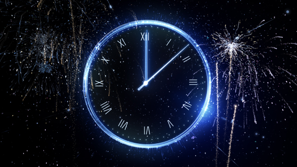 Midnight New Year Countdown Clock 2018 by IronykDesign   VideoHive Play preview video