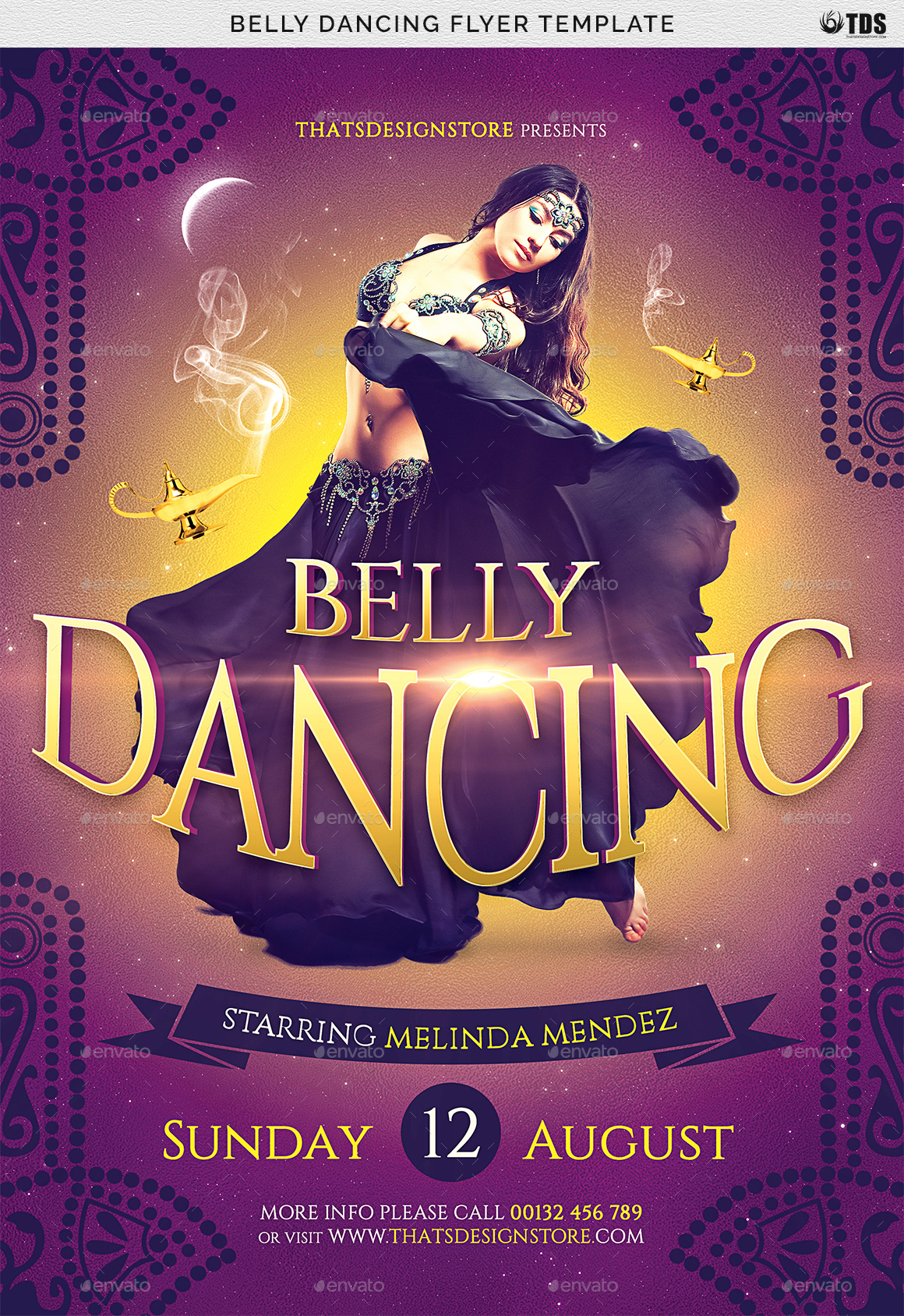 Belly Dancing Flyer Template By Lou606 GraphicRiver