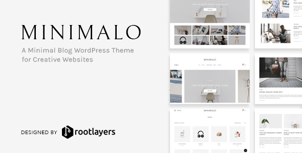minimalo image preview.  large preview - Minimalo - A Minimal Blog WordPress Theme for Creative Websites
