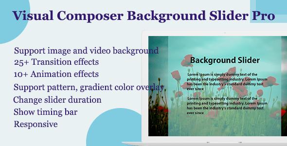 Visual Composer - Background Slider Pro - CodeCanyon Item for sale
