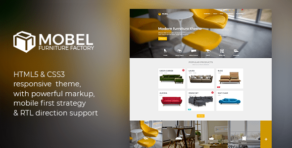 mobel furniture html template retail site templates