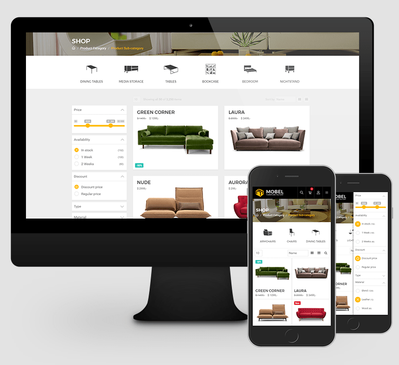 mobel furniture html template