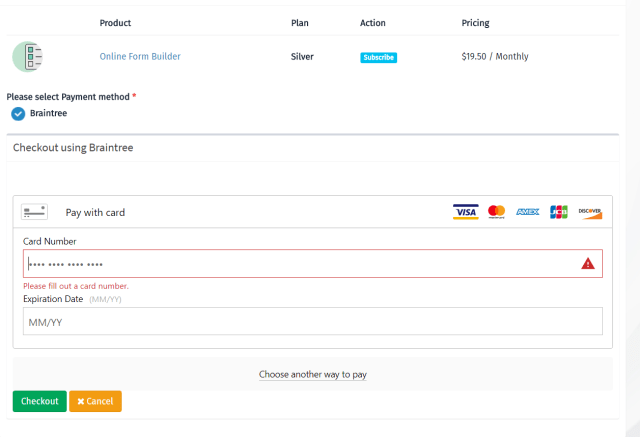 braintree credit card | Applydocoument co