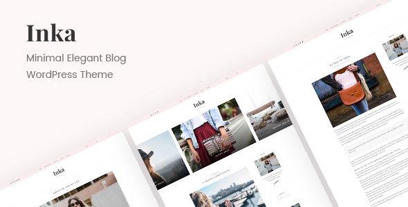 preview.  large preview - Inka | Minimal Blog WordPress Theme