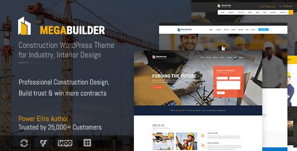 Construction WordPress Theme for Industrial & Construction Company   MegaBuilder Construct
