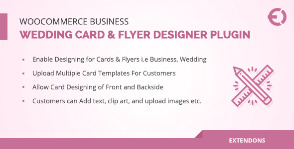 Woocommerce Business Wedding Card Flyer Designer Plugin X Theme