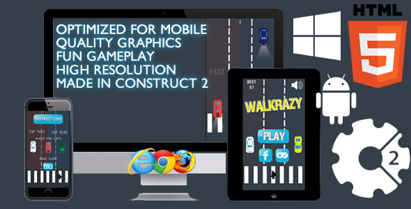 Walkrazy Game - CodeCanyon Item for Sale