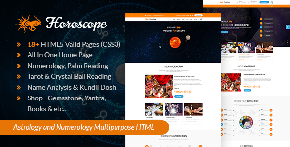 Horoscope - All in one Astrology and Numerology HTML Template - 14