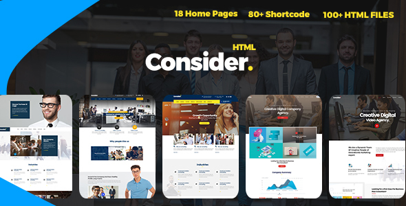Consider - Multi-Purpose Responsive HTML5 Template