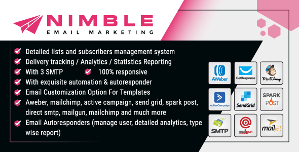 Nimble Bulk Email Marketing Web Application For Business – Php Laravel Script