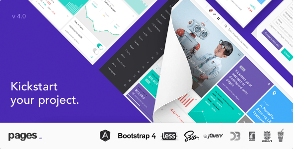 Pages - Admin Dashboard Template with Angular 5, Bootstrap 4 & HTML
