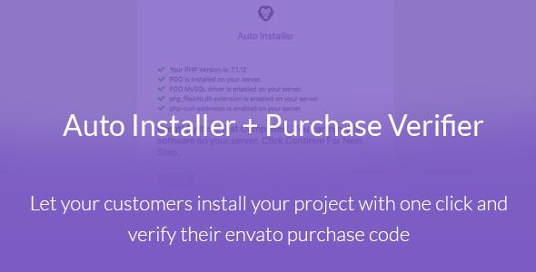 Auto Installer with Envato Purchase Code Verifier