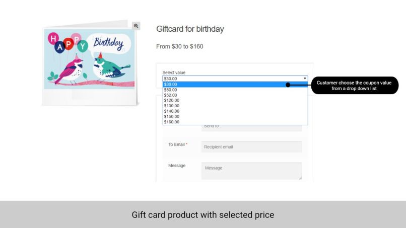 Woocommerce Gift Card Product Letterjdi