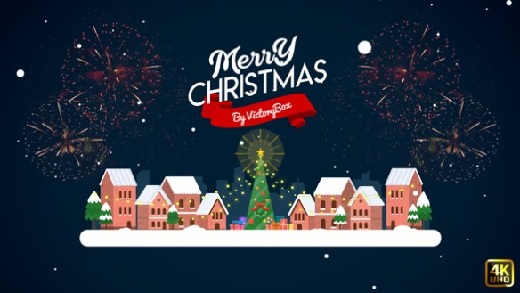 Christmas opener with 2d flat design templates for christmas projects